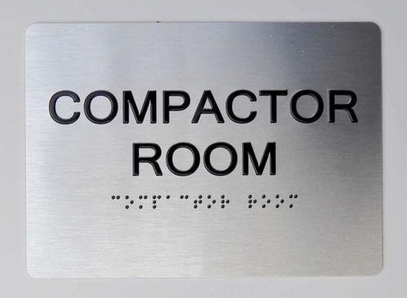 Compactor Room ADA Sign -Tactile Signs The Sensation line Ada sign