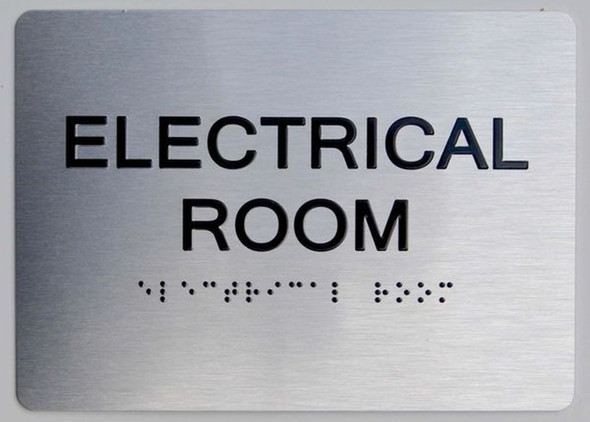 SILVER Electrical Room ADA Sign