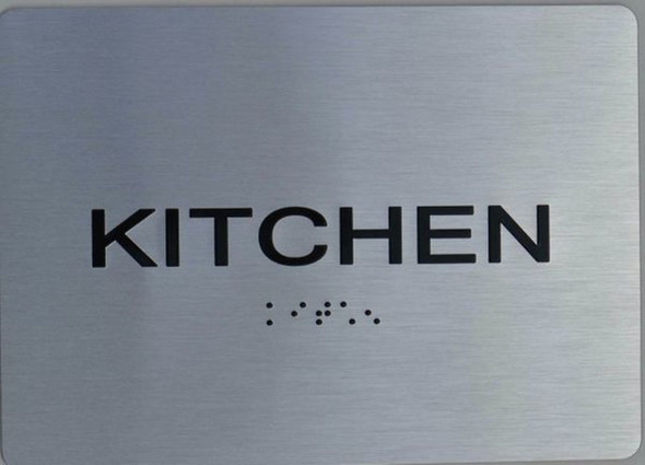 ada Kitchen silver Sign