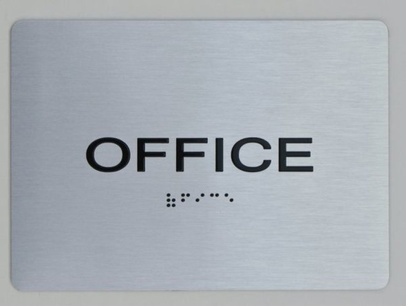 Office Sign ada silver