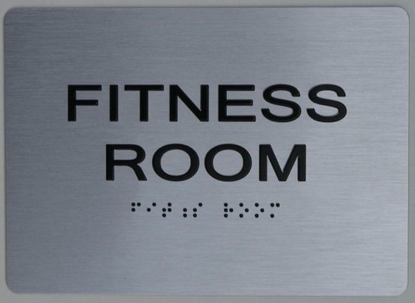 FITNESS ROOM Sign ADA Sign -Tactile Signs  The sensation line Ada sign