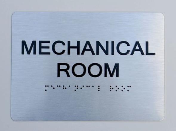 Mechanical Room ADA Sign -Tactile Signs  The sensation line Ada sign