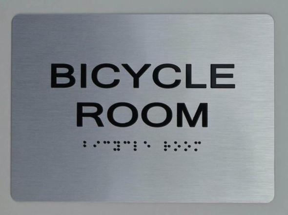 BICYCLE ROOM ADA Sign -Tactile Signs  The sensation line   Ada sign