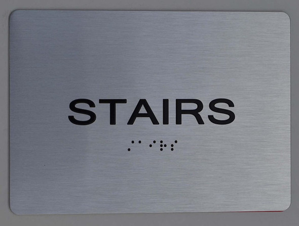 Stairs  silver Sign