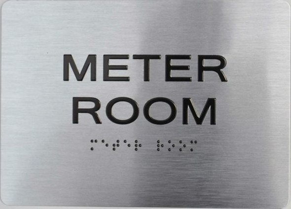 Meter Room ADA Sign -Tactile Signs  The sensation line Ada sign