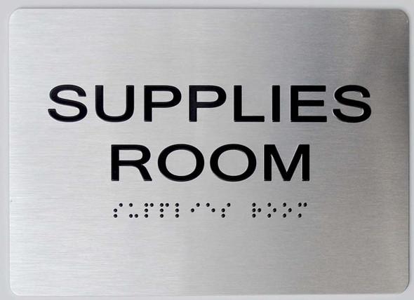 Supplies Room ADA-Sign -Tactile Signs The Sensation line Ada sign