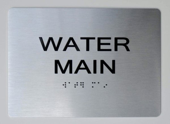 WATER MAIN ADA Sign -Tactile Signs  The sensation line Ada sign