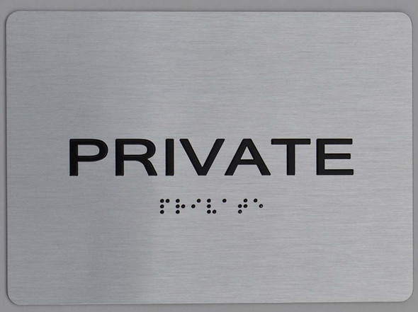 Private ADA Sign silver