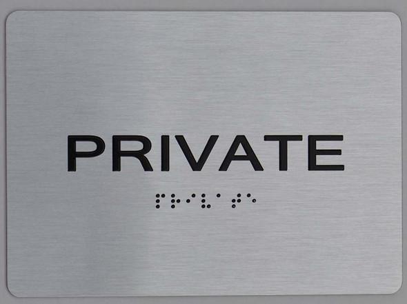 private silver sign
