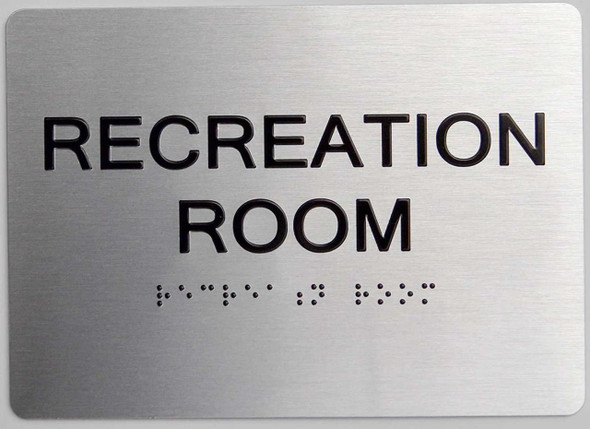 Recreation Room ADA-Sign -Tactile Signs The Sensation line Ada sign