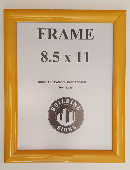 Yellow Snap Poster Frame/ Picture Frame 8.5x11