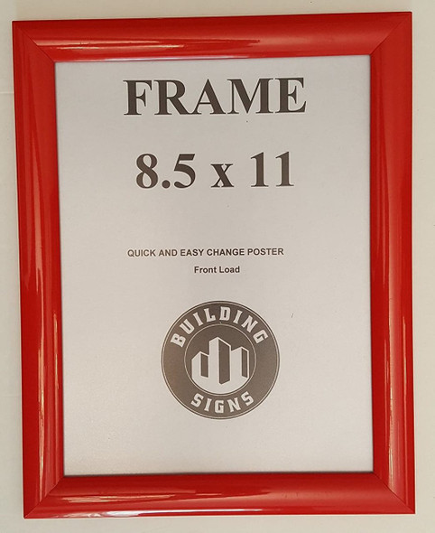 poster frame red 8.5x11