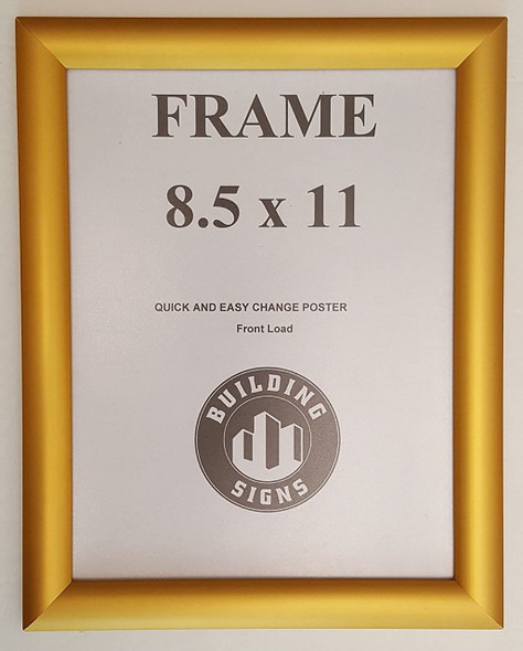 Gold Snap Poster Frame/Picture Frame/Notice Frame Front Load Easy Open Snap Frame
