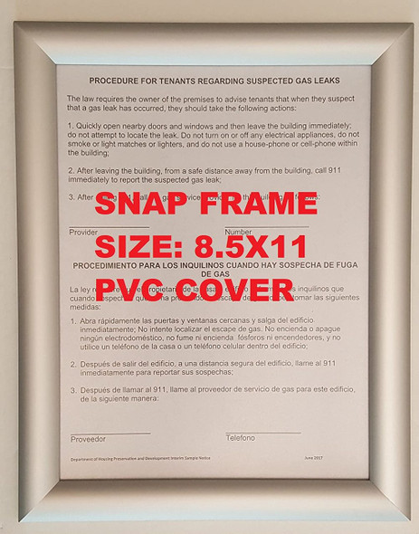 Aluminum Snap Frame for Poster es, 25mm Profile, Color Silver