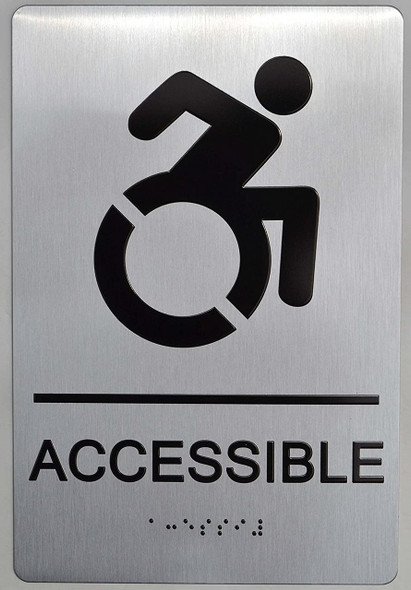 NYC Accessible Sign -Tactile Signs ADA-Compliant Sign.  -Tactile Signs The Sensation line Ada sign