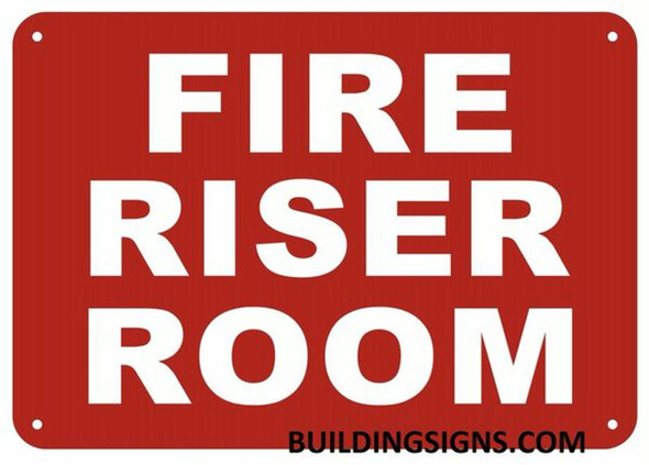FIRE Riser Room SIGNAGE (White,Reflective !! Aluminium  -Rust Free)