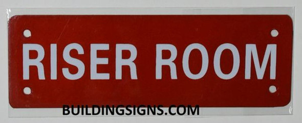 Riser Room Sign (Aluminium Reflective !!!, RED)