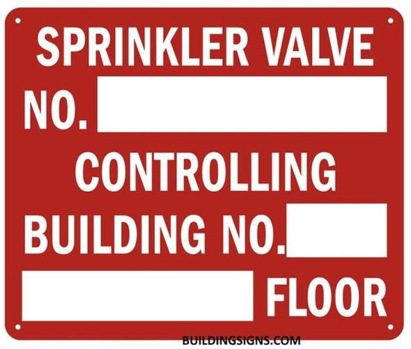 Sprinkler Valve Number Controlling Building Sign