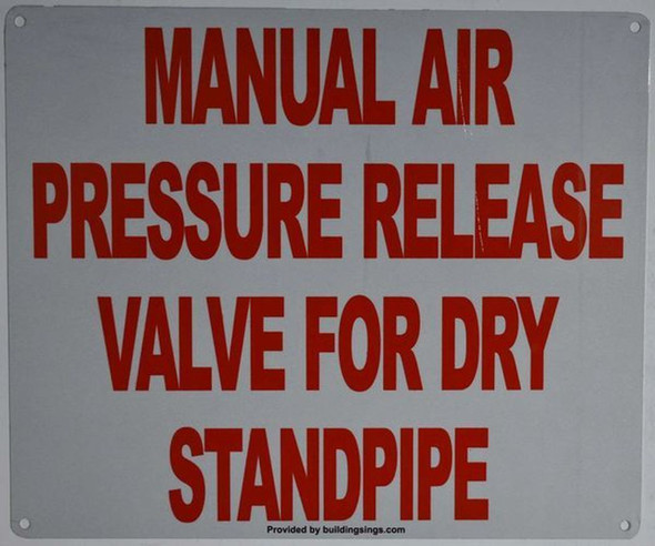 Manual AIR Pressure Release Valve Temporary Dry Standpipe