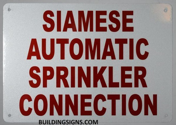 Sprinkler Siamese Sign