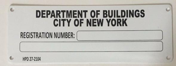 HPD-Building Registration Number