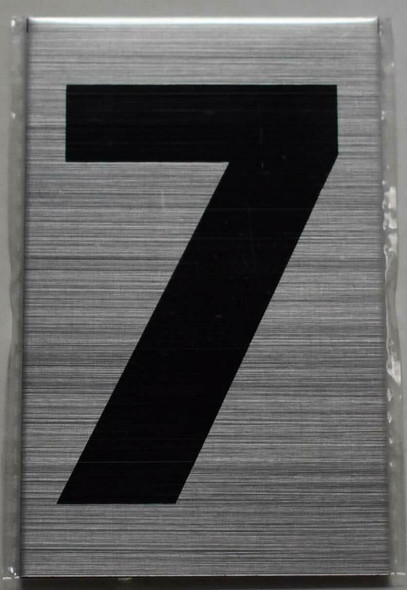 Apartment Number Sign  - Seven (7)