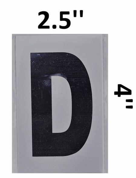 Apartment Number Sign - Letter D Brush Aluminium