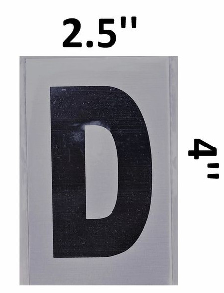 Apartment Number Sign  - Letter D