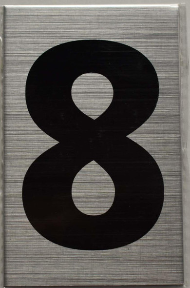 Apartment Number Sign  - Eight (8)