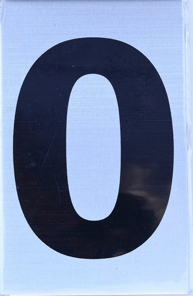 Apartment Number Sign  - Zero (0)