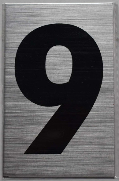 Apartment Number Sign  - Nine (9)