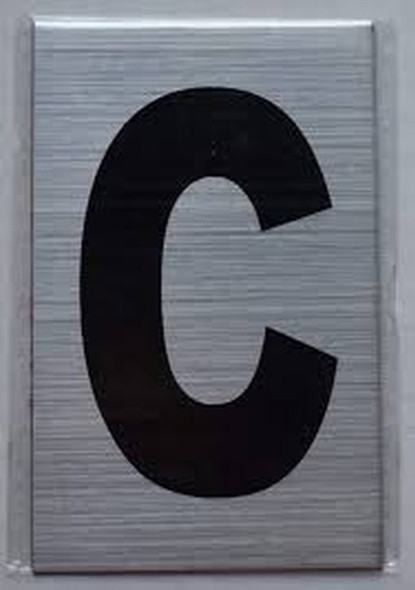 Apartment Number Sign  - Letter C