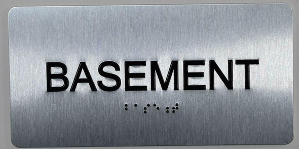 Basement Floor NUMBER SIGN ADA SILVER