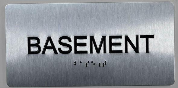 Basement Floor NUMBER SIGN ADA SILVER