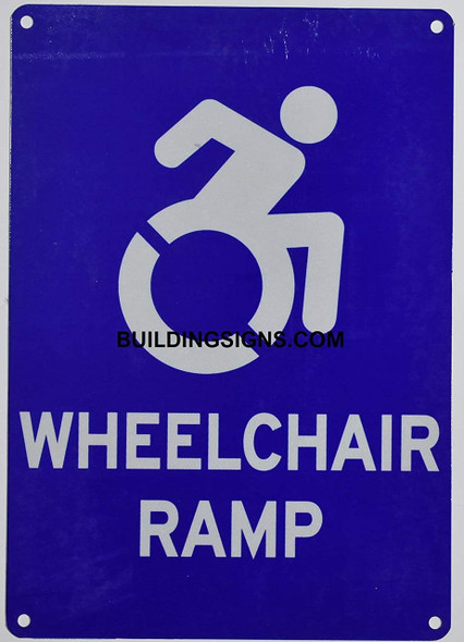Wheelchair RAMP Sign-The Pour Tous Blue LINE