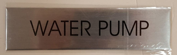 WATER PUMP SIGN - Delicato line