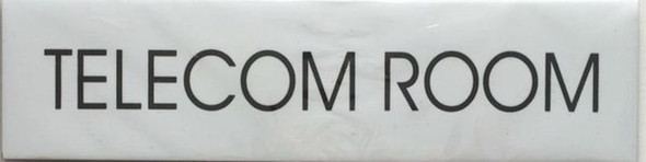 TELECOM ROOM SIGN (WHITE)