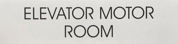 ELEVATOR MOTOR ROOM  (WHITE)