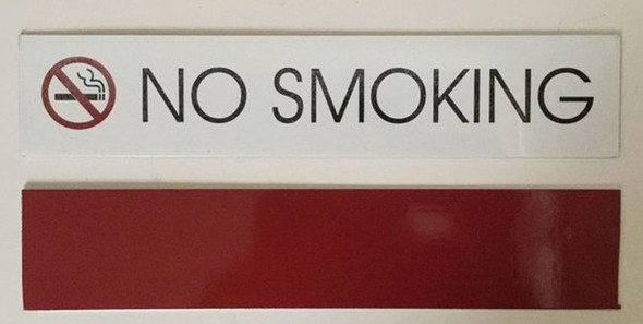 NO SMOKING SIGN pure white
