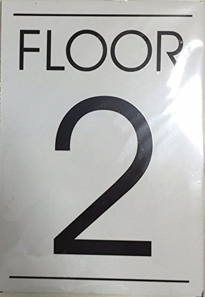 FLOOR NUMBER SIGN  - 2ND FLOOR SIGN