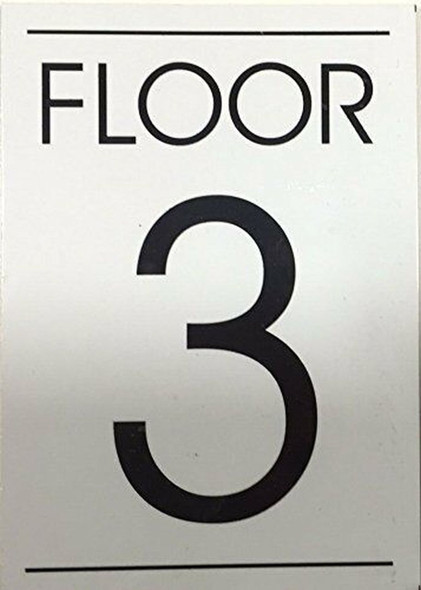 White FLOOR NUMBER SIGN