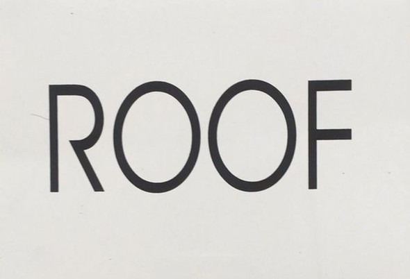 ROOF floor number SIGN white