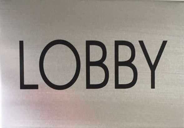 LOBBY FLOOR SIGN silver