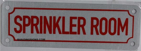 Sprinkler Room Sign white