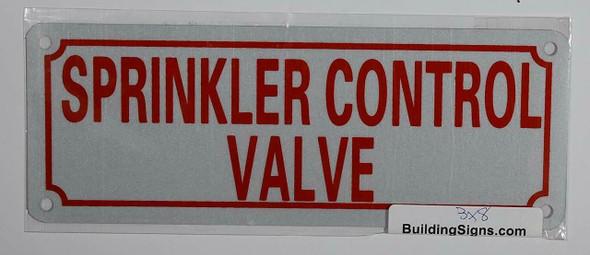Sprinkler Control Valve Signage