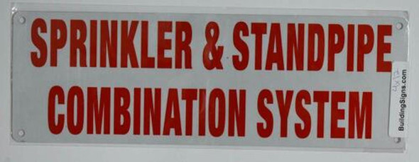 Sprinkler & Standpipe Combination System Sign