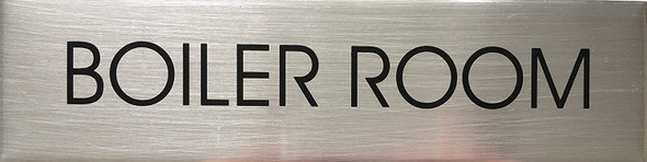Boiler Room Sign - Delicato line (Brushed Aluminum)