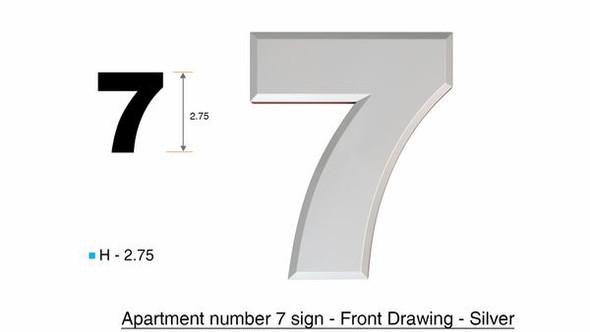 Apartment Number /Mailbox Number , Door Number . Number 7