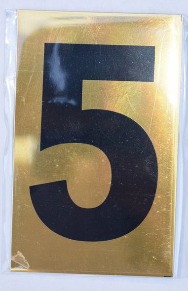 Apartment number sign 5 – GOLD