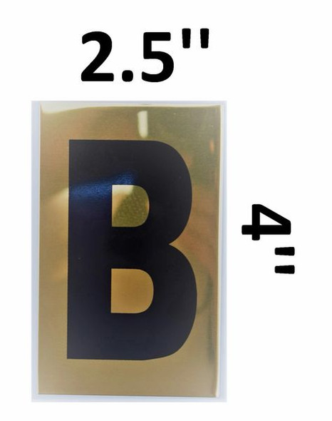 Apartment number sign B – (GOLD, ALUMINUM SIGNS 4X2.5)-Ref05-2020